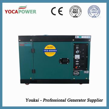7kVA с воздушным охлаждением звукоизоляционный дизельный двигатель электрический генератор