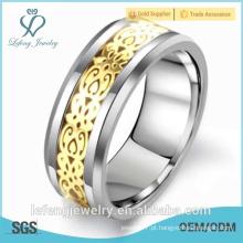 Anel da forma 2015, anel do tungstênio do dedo dos homens gays da forma do acoplamento