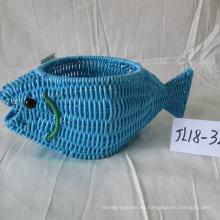 Pote plástico de la forma de los pescados de la rota