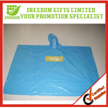 Unique And Fashional Style Logo Printed Top Quality Transparent Disposable Plastic Poncho