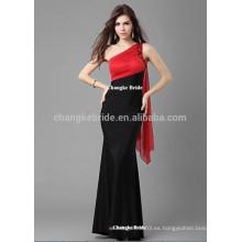 2016 Elegante un hombro largo vestidos de noche para las mujeres Verano