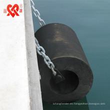 Hecho en China CCS certificación muelle / barco defensa de goma cilíndrica marina