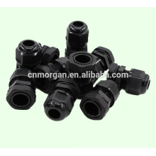 nylon plastic water-proof adjustable cable gland with lock nut ,avaliable in avarious color ,CE approval