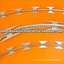 CBT-65 galvanized Scraper type razor barbed wire for protection with reasonable price (supplier)