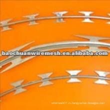 CBT-65 оцинкованный скребковый тип колючей проволоки для защиты с разумной ценой (поставщик)