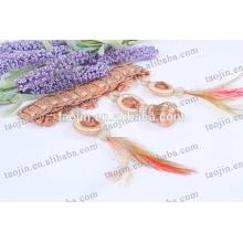 Home Têxtil Elegante Moda Cortina Decorativa Feather Tassel Fringe