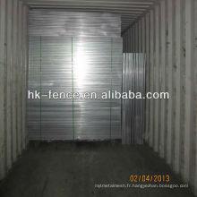 La clôture galvanisée de construction de 6ft haut x 10ft longtemps inutilisée inclut les agrafes supérieures et les bases