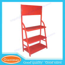 loja de varejo lubrificantes de cores vermelhas piso de metal mostrador de exibição de óleo