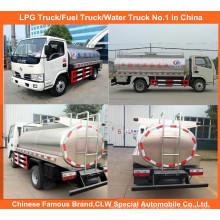 Caminhão pequeno do leite de 3m3 5m3 para o petroleiro fresco do transporte do leite