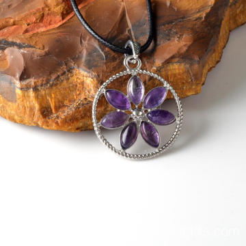 Wholesale Amethyst Flower of Life Pendant Necklace