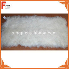 Bleached white curly Tibet lamb fur plate