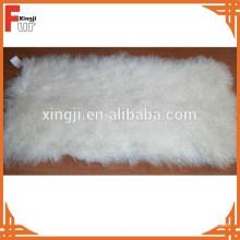 Беленый белый вьющиеся Тибет мех ягненка плиты