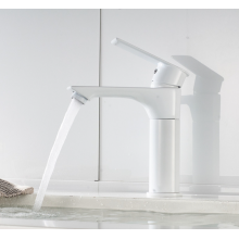 Brass chrome-plated single-rod lifting swivel lever wash basin mixer faucet