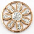 Le plus nouveau pendentif de médaillon d'acier inoxydable de Rose d'IP de conception avec la pièce de fleur à l'intérieur