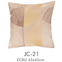 Yellow Polyester / Cotton Jacquard Pillow Cover Square , Oversized Floor Pillows Cushion