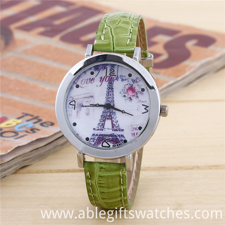 green leather watch luxury