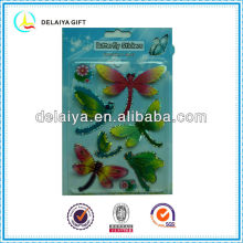 3D dragonfly hologram stickers for kids decoration