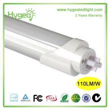 Fábrica de alta eficiência luminosa 3 anos de garantia AC 85-277V 9W 20W 24W T5 T8 luz tubo conduzido