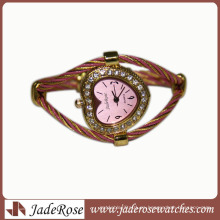 Venta caliente moda diamante correa de aleación reloj a prueba de agua