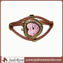 Venda quente de Moda Diamante Dial Alloy Strap Waterproof Watch