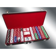 Deluxe Poker Chip Case / Blk Groß