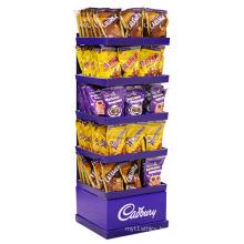 Attractive Cardboard Candy Chocolate Rack Display