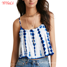 Summer Fashion Women Girl Clothes Blue White Tank-Top