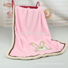 Einfachen Stil und Raschel Material Babydecke