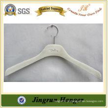 Nice White Plastic Velvet Hanger para o vestido
