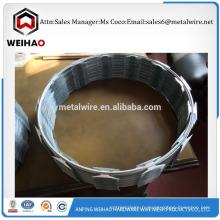 Marketing grande quantité fil de fer barbelé taille différente rasoir fil barbelé