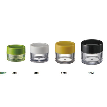 Plastic PP Small Cream Jar, 5ml to 12ml