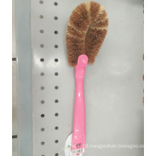 Palm Material Pan Washing Brush with Plastic Handle (YY-477)