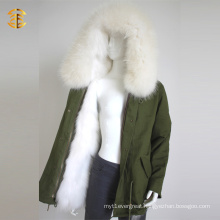 White Raccoon Faux Fur Girls Winter Warm Women Coat
