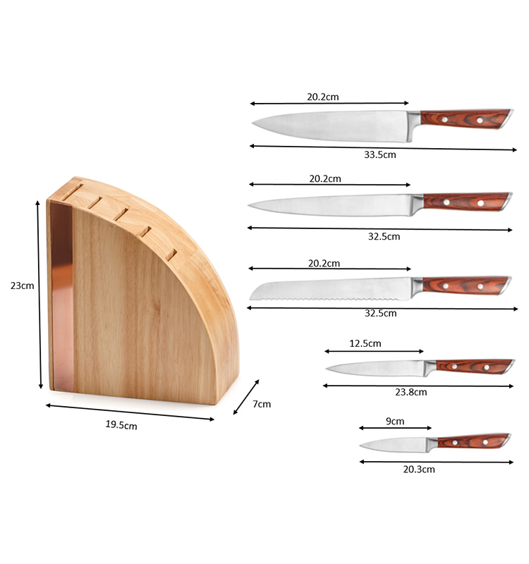 Knife Set with Wood Stand