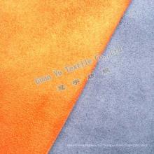Poliéster microfibra Suede sofá tela en relieve
