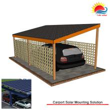 Estructura de montaje en tierra de poste solar de bajo mantenimiento (SY0487)