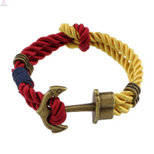 2017 cheap sport thin magnetic buckle rock and roll Double chain bracelet