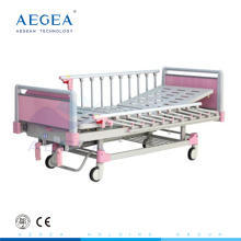 AG-CB012 4-part Steel bed boards baby crib bedding set with one manual crank