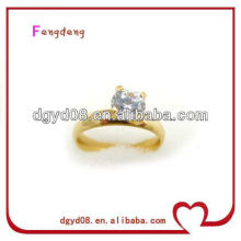 stainless steel gold plating diamond ring wedding ring for women rings jewellery