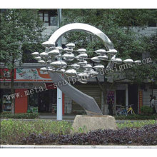 Stainless Steel Headspring Sculpture