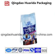 Side Gusset Aluminiumfolie Verpackungsbeutel für Kaffee mit Ziplock