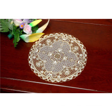 Café popular / home do uso de Tablemat do PVC do ouro redondo barato do laço de 30cm