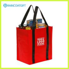 Logo promotionnel imprimé non tissé à bas prix sac à provisions Brs-024