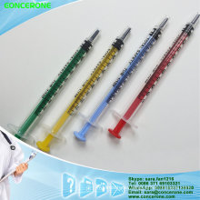 Disposable Syringe with Colorful Plunger, Colored Syringe with Good Quality