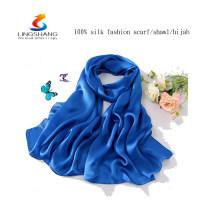 W4159 LINGSHANG vestido para o produto novo da seda da senhora chiffon do xaile do chiffon do projeto da forma da forma