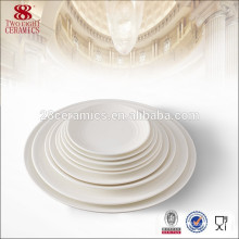 Round shape white dinner plates for wedding Porcelain dish plate