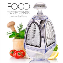 4 sides crystal fruits vegetables slicer food chopper box grater with storage container
