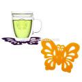 Silikon Schöne Schmetterling Form Cup Untersetzer Kreative Gummi Cup Untersetzer