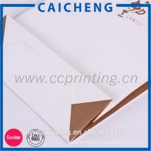 Saco de compras de papel personalizado de estilo de luxo reciclável