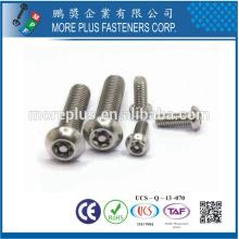 TAIWAN de alta qualidade C1022 aço níquel M3 botão cabeça torx parafuso de segurança do condutor